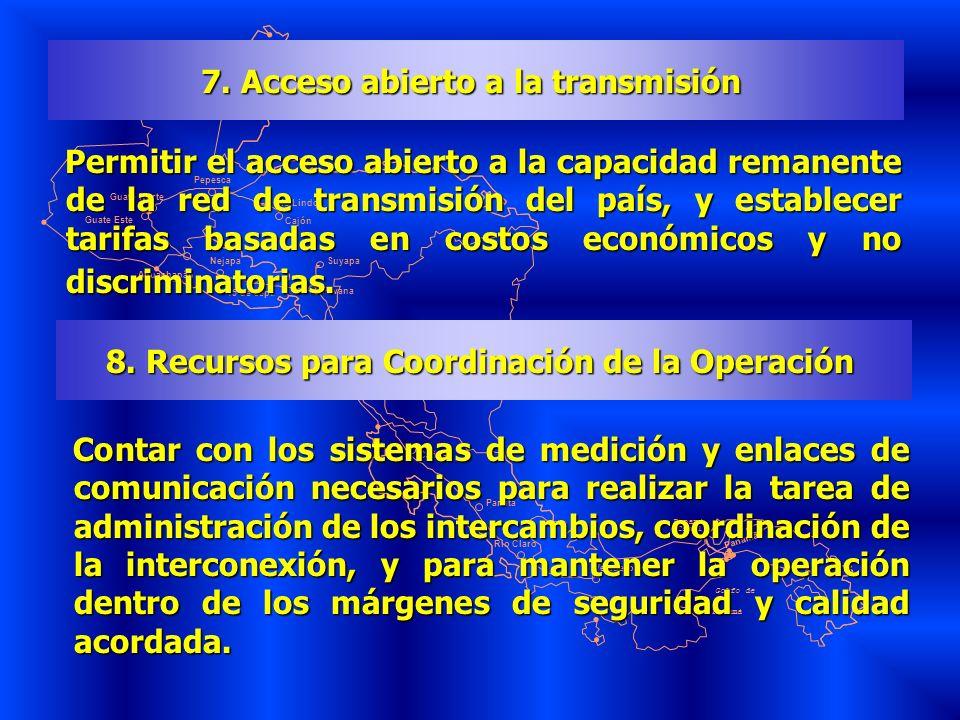 7. Acceso abierto a la transmisión