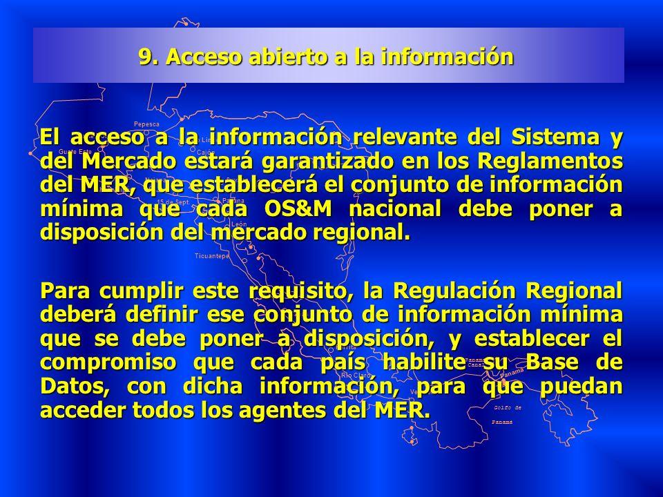 9. Acceso abierto a la información