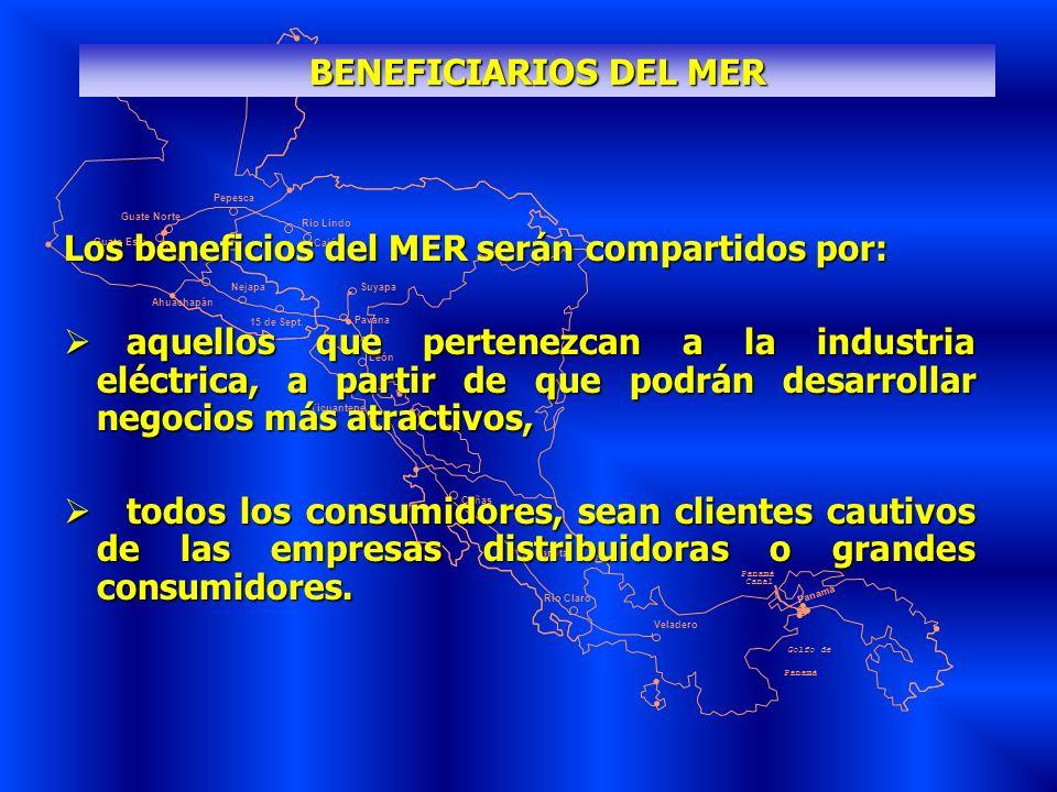 Los beneficios del MER serán compartidos por: