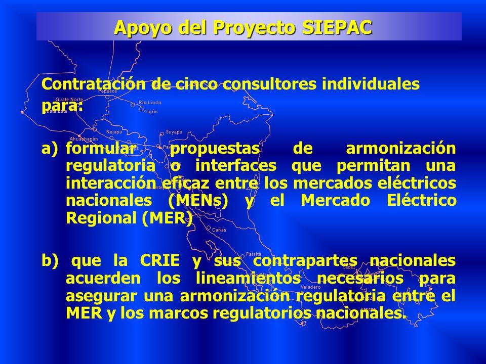 Apoyo del Proyecto SIEPAC