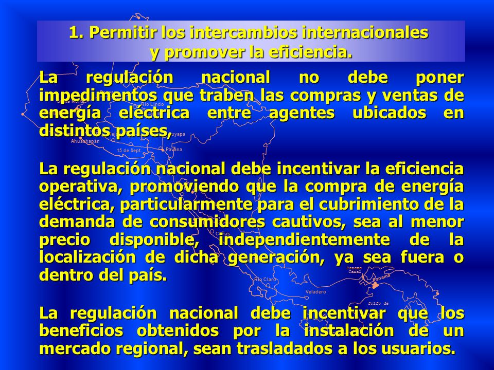 1. Permitir los intercambios internacionales y promover la eficiencia.
