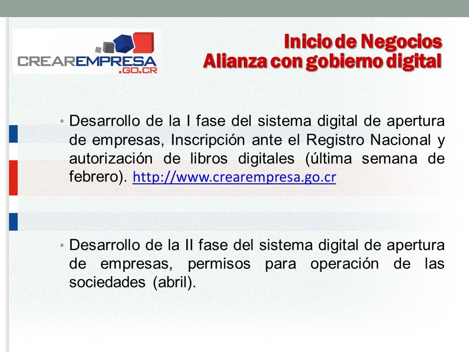 Inicio de Negocios Alianza con gobierno digital
