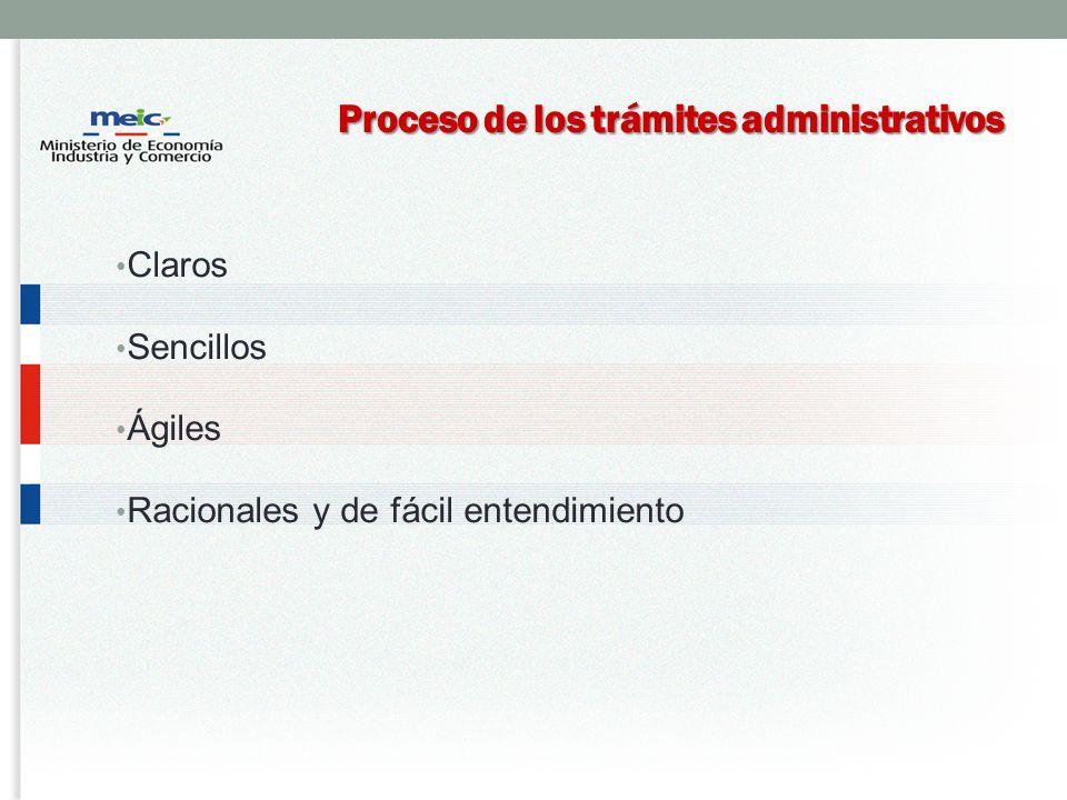 Proceso de los trámites administrativos