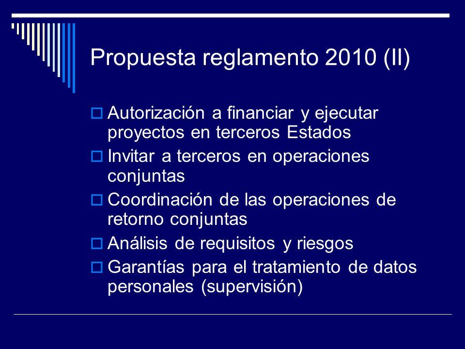 Propuesta reglamento 2010 (II)