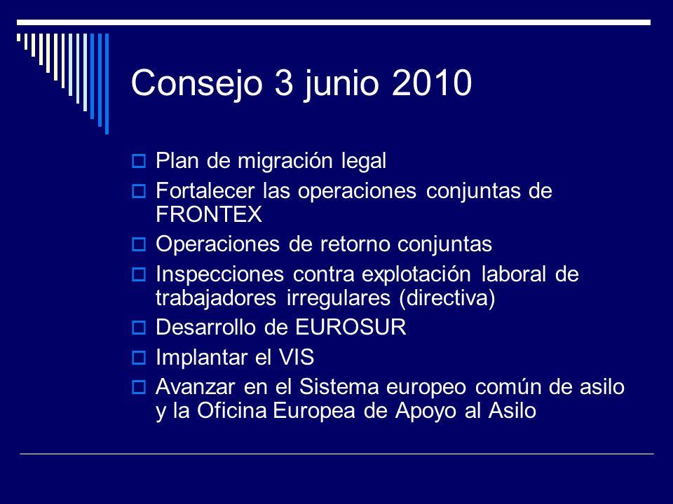 Consejo 3 junio 2010 Plan de migración legal