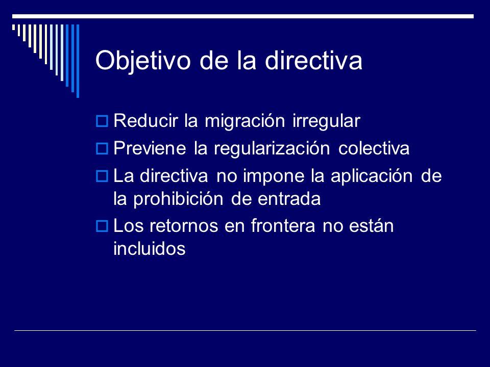 Objetivo de la directiva