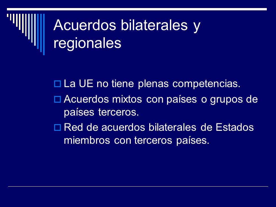 Acuerdos bilaterales y regionales