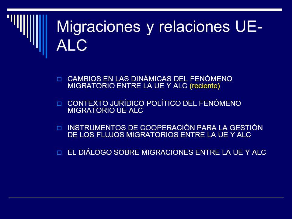 Migraciones y relaciones UE-ALC