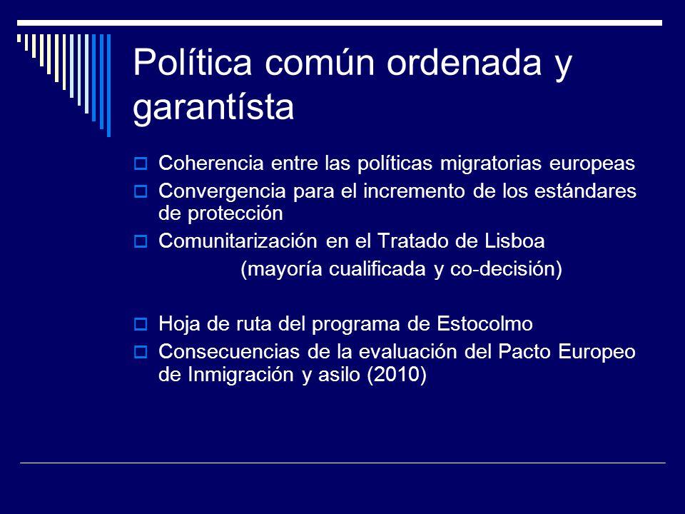 Política común ordenada y garantísta