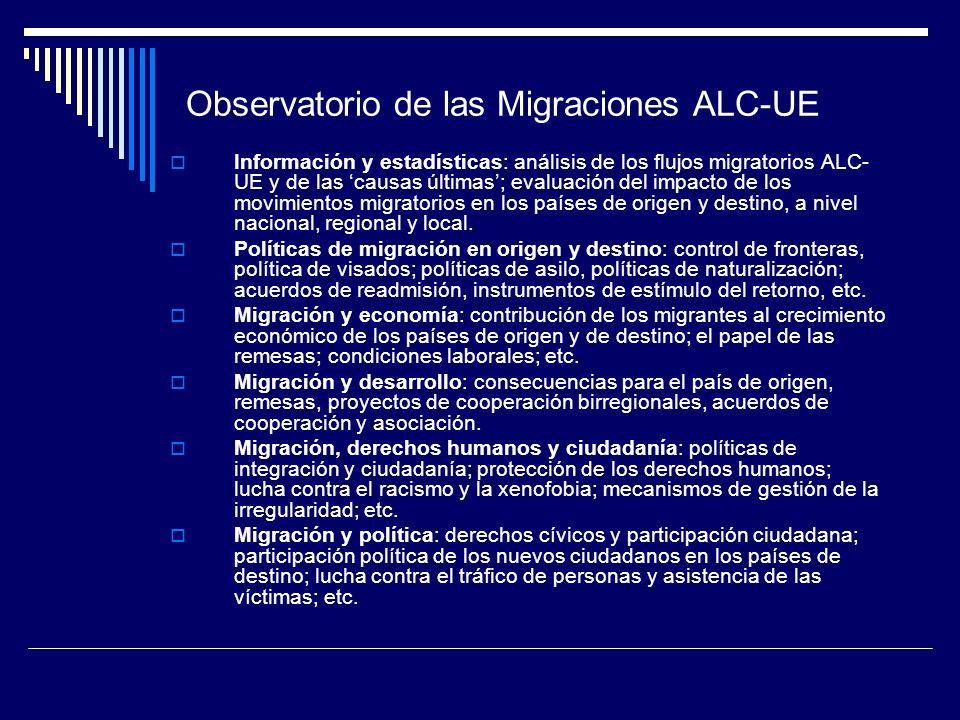 Observatorio de las Migraciones ALC-UE