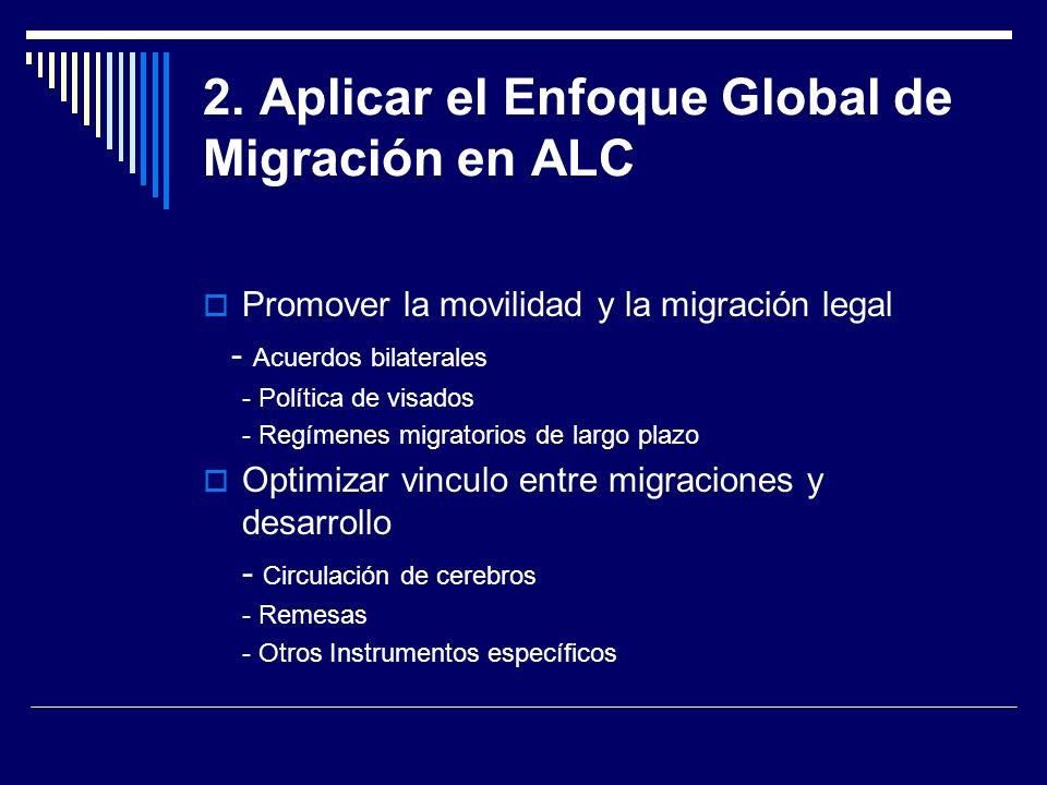 2. Aplicar el Enfoque Global de Migración en ALC