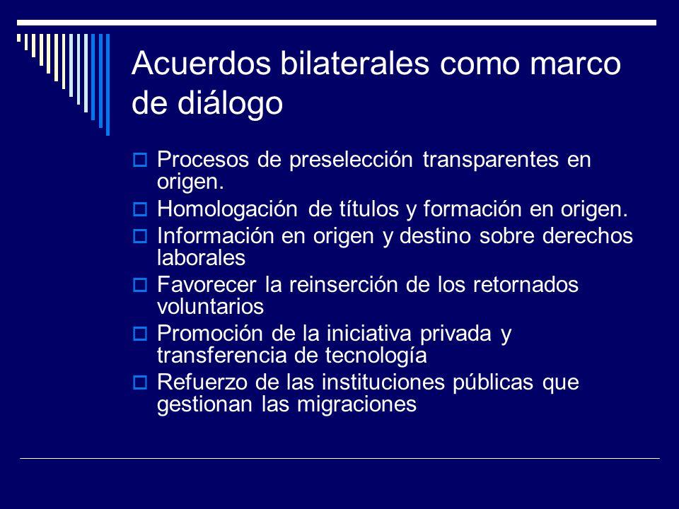 Acuerdos bilaterales como marco de diálogo