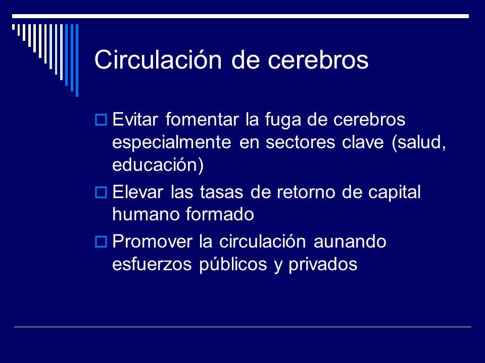 Circulación de cerebros