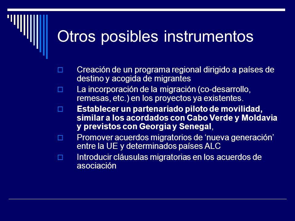 Otros posibles instrumentos