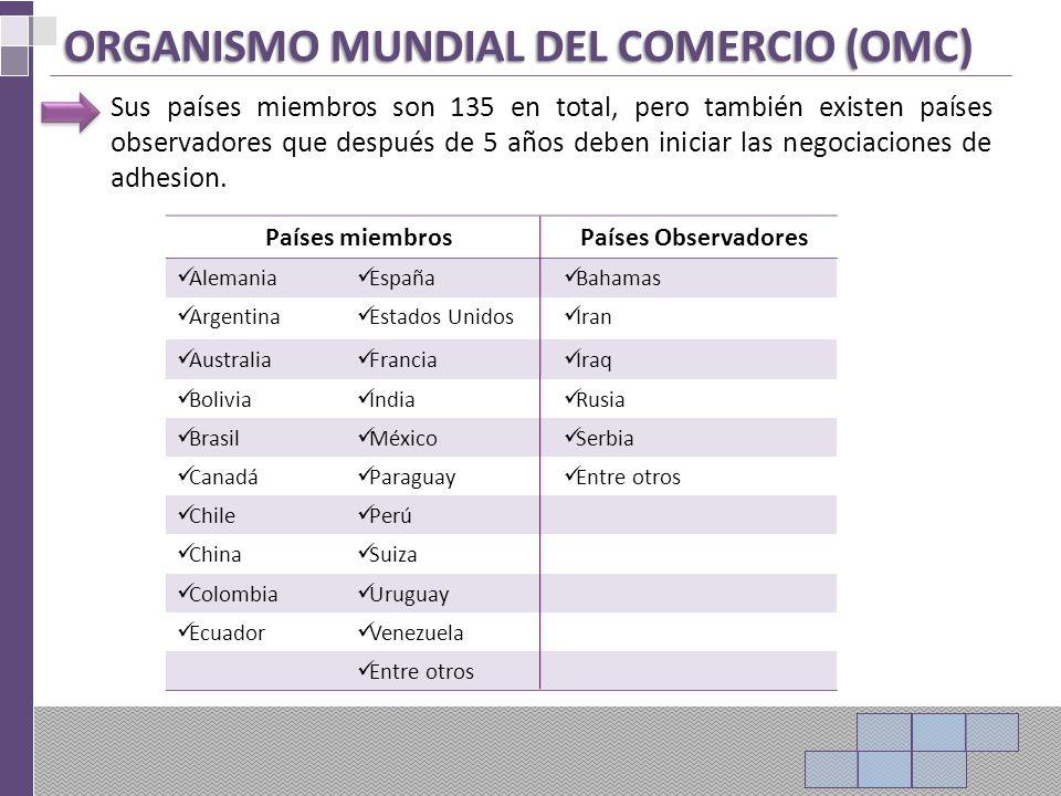 ORGANISMO MUNDIAL DEL COMERCIO (OMC)