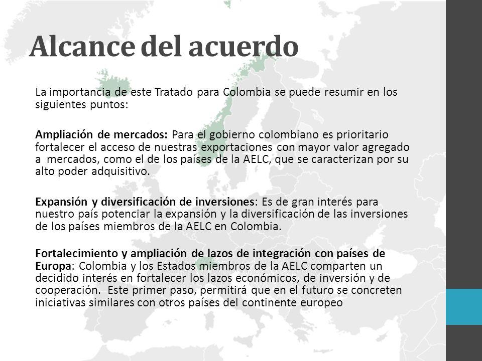 Alcance del acuerdo La importancia de este Tratado para Colombia se puede resumir en los siguientes puntos: