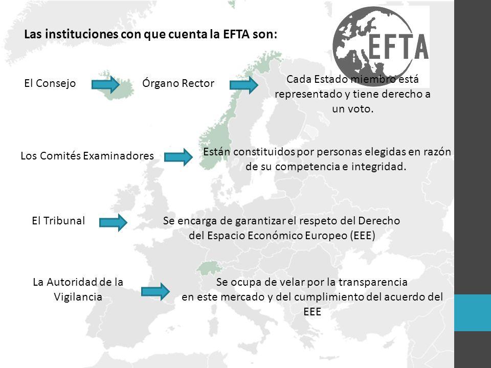 Las instituciones con que cuenta la EFTA son: