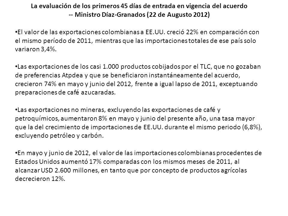 -- Ministro Díaz-Granados (22 de Augusto 2012)