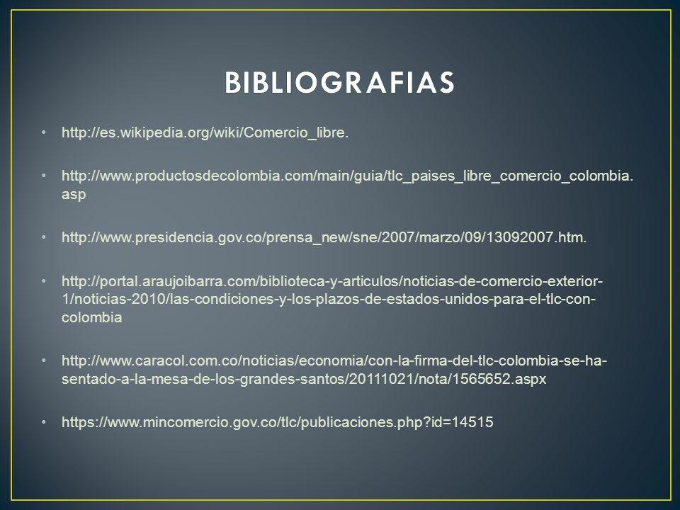 BIBLIOGRAFIAS http://es.wikipedia.org/wiki/Comercio_libre.