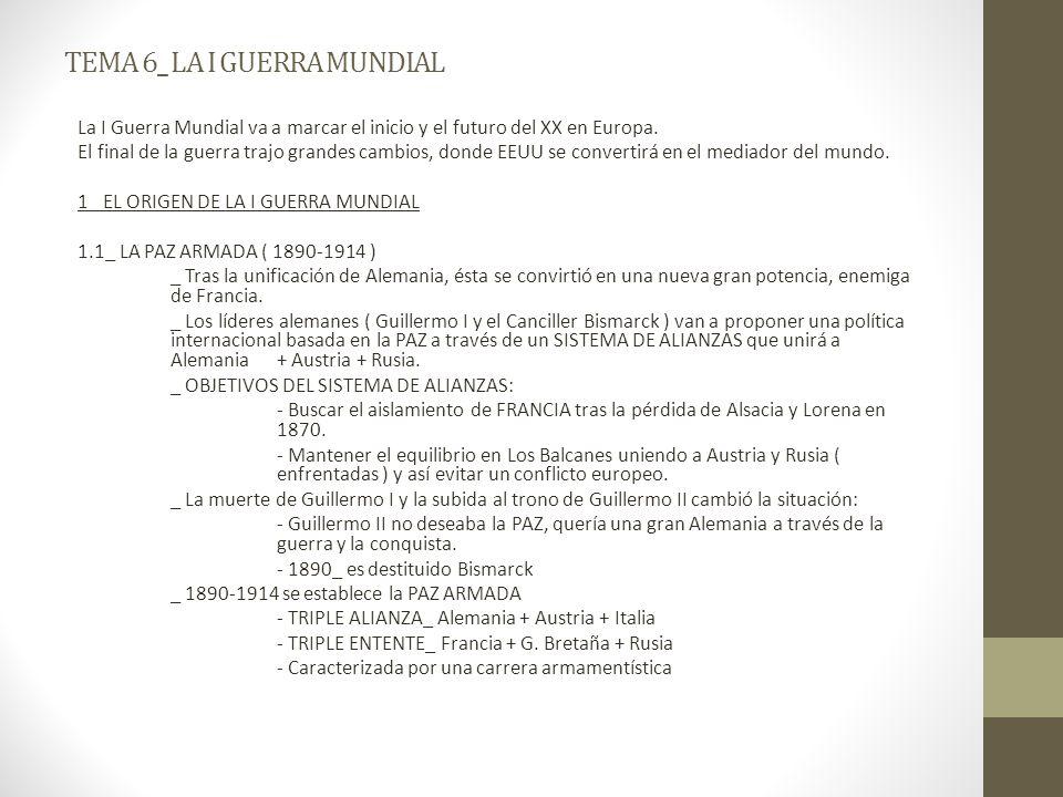 TEMA 6_ LA I GUERRA MUNDIAL