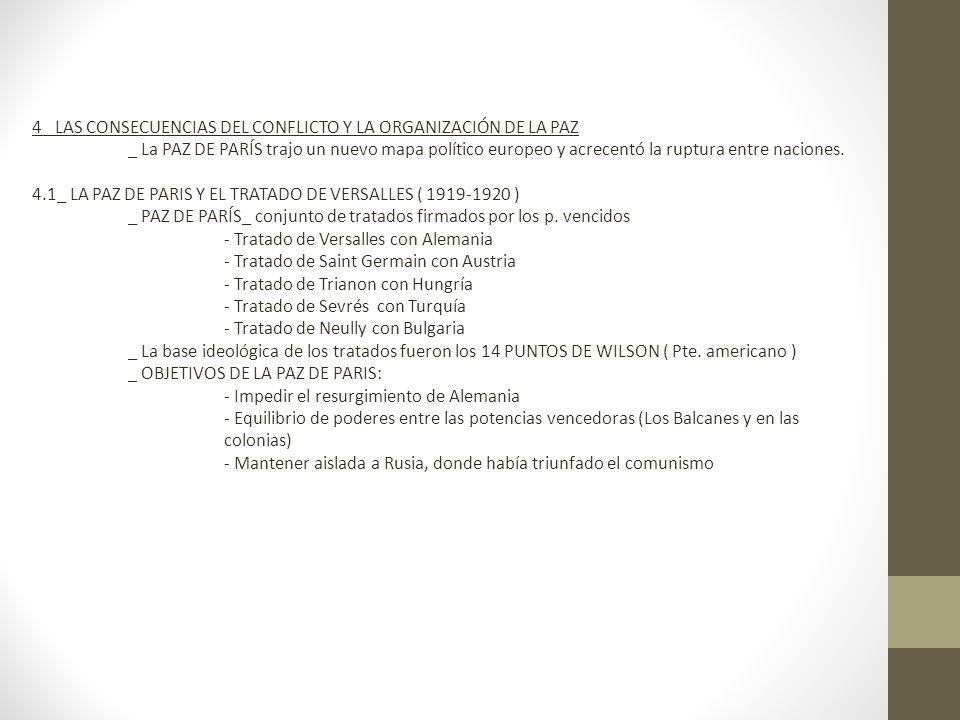 4_ LAS CONSECUENCIAS DEL CONFLICTO Y LA ORGANIZACIÓN DE LA PAZ