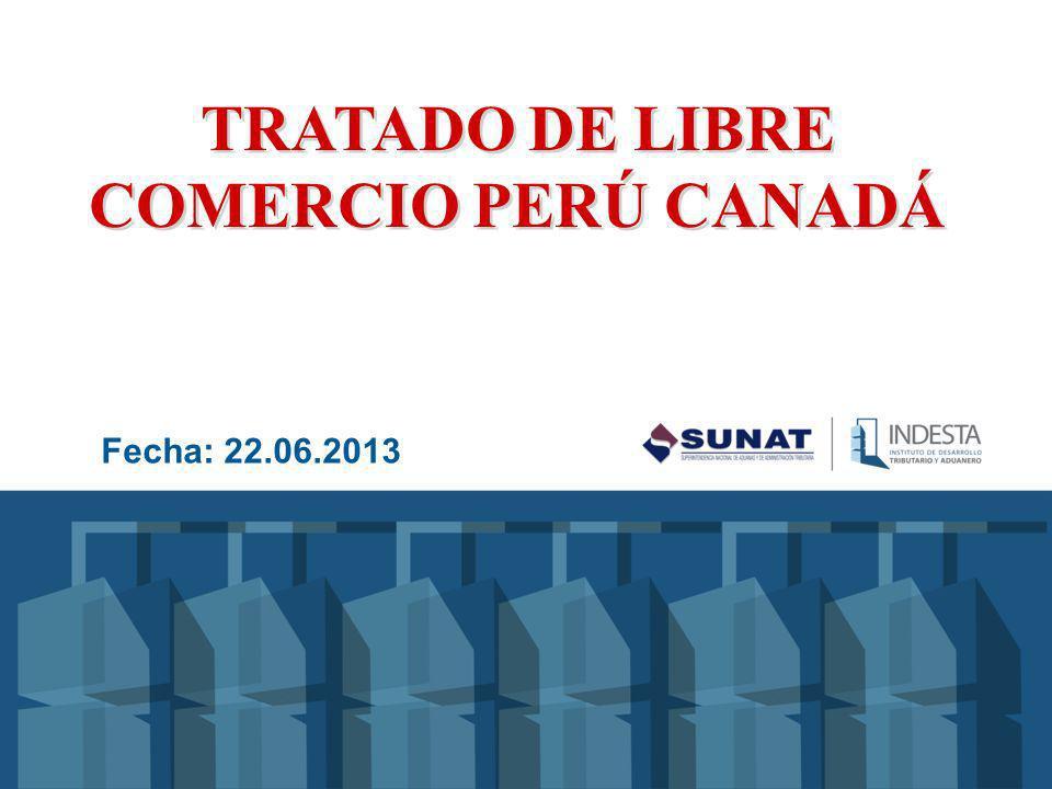 TRATADO DE LIBRE COMERCIO PERÚ CANADÁ