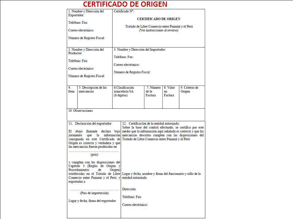 CERTIFICADO DE ORIGEN 100