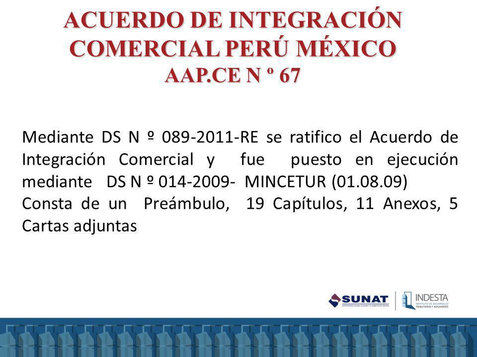 ACUERDO DE INTEGRACIÓN COMERCIAL PERÚ MÉXICO