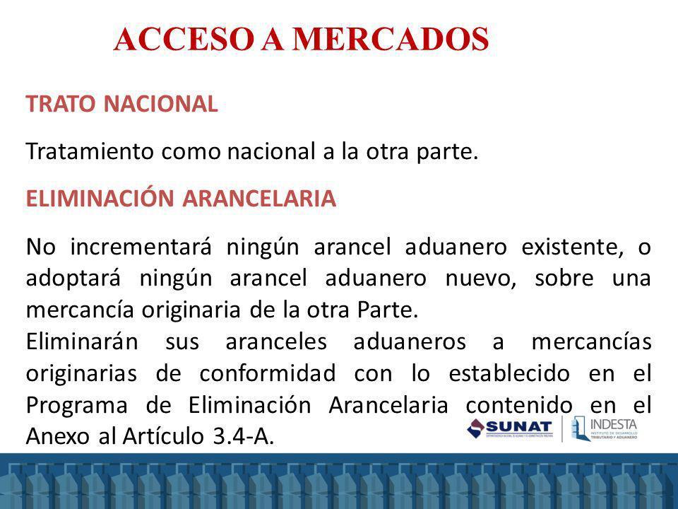 ACCESO A MERCADOS TRATO NACIONAL
