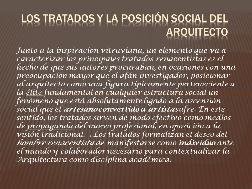 Los tratados y la posición social del arquitecto