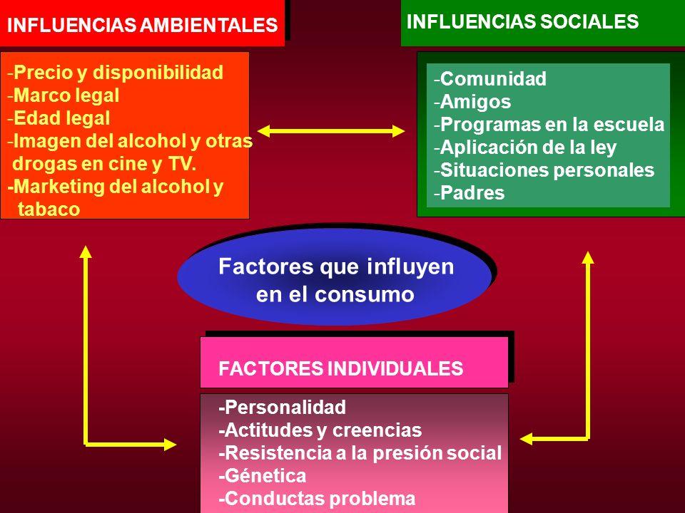 Factores que influyen en el consumo INFLUENCIAS SOCIALES