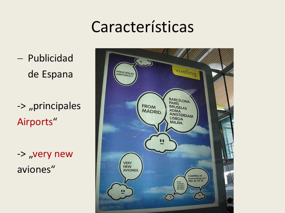 """Características Publicidad de Espana -> """"principales Airports"""