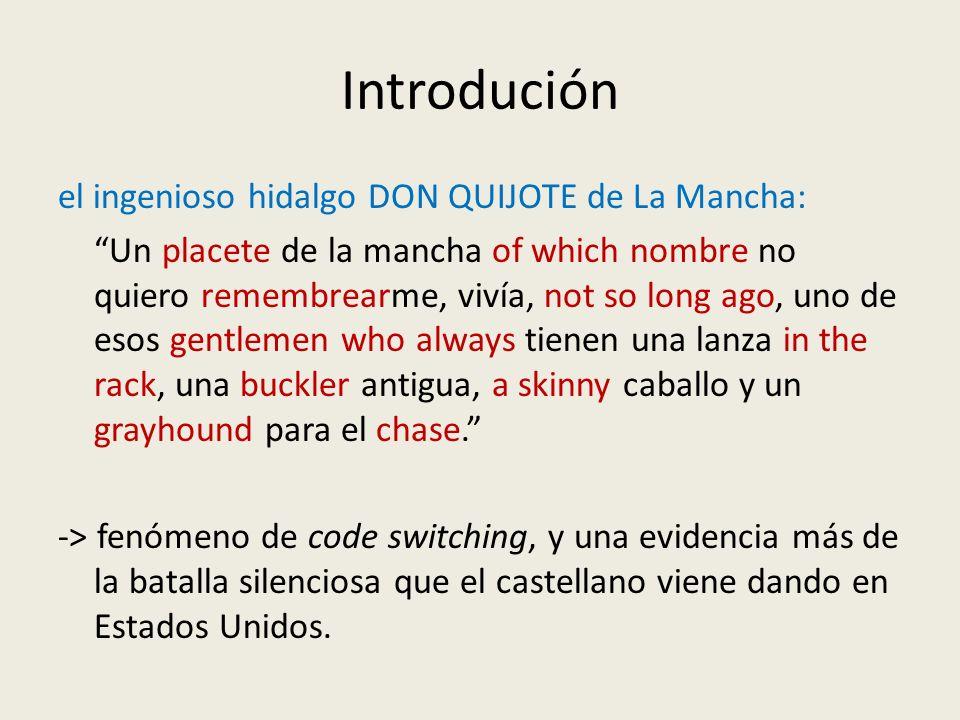 Introdución el ingenioso hidalgo DON QUIJOTE de La Mancha: