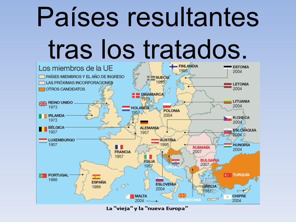 Países resultantes tras los tratados.