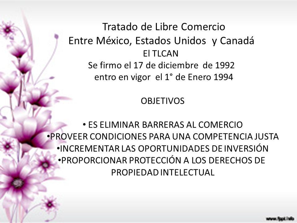 Tratado de Libre Comercio Entre México, Estados Unidos y Canadá