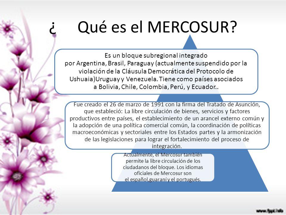 ¿ Qué es el MERCOSUR