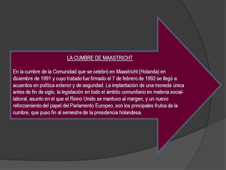 LA CUMBRE DE MAASTRICHT