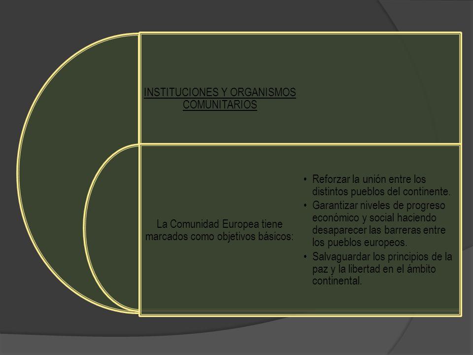INSTITUCIONES Y ORGANISMOS COMUNITARIOS
