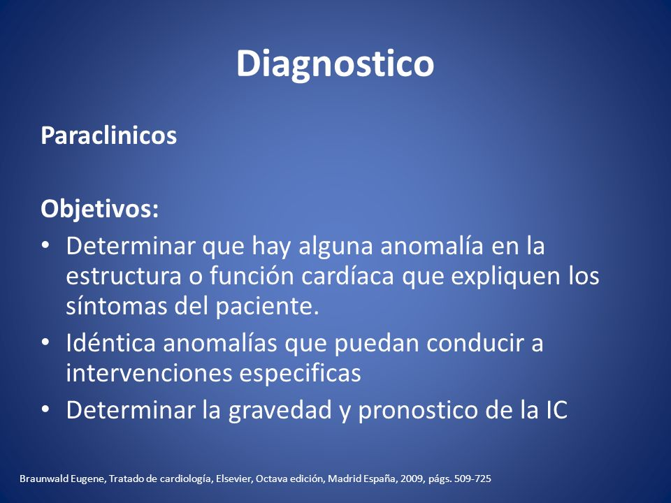 Diagnostico Paraclinicos Objetivos: