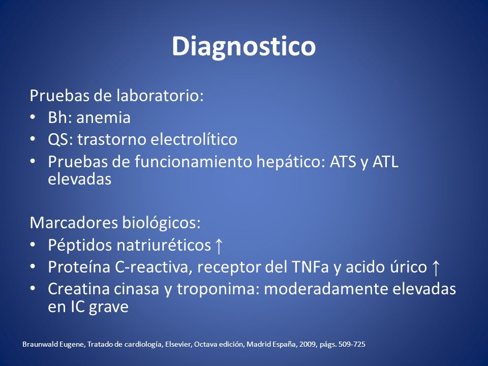 Diagnostico Pruebas de laboratorio: Bh: anemia