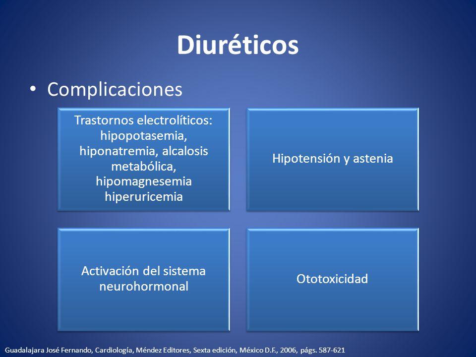 Activación del sistema neurohormonal