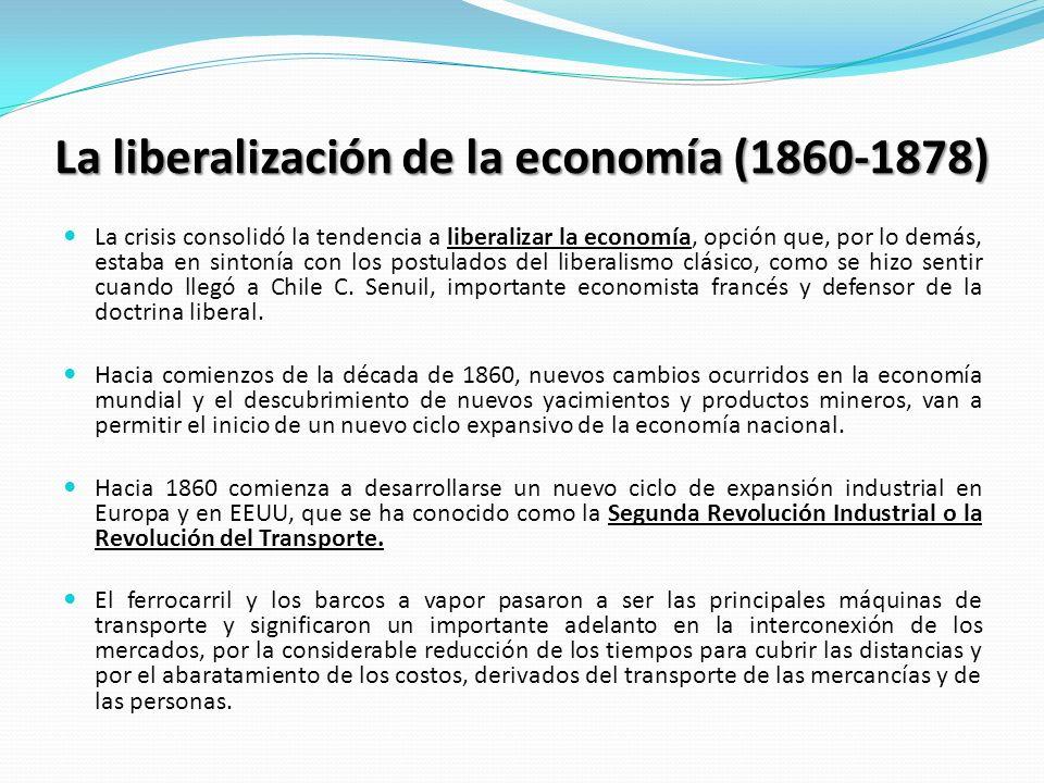 La liberalización de la economía (1860-1878)