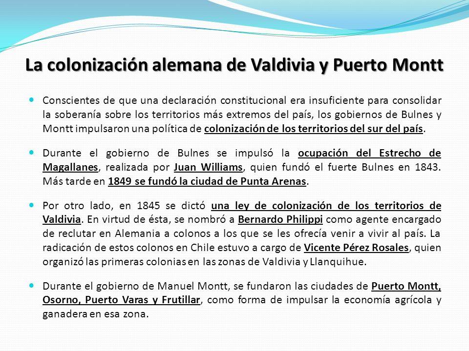La colonización alemana de Valdivia y Puerto Montt