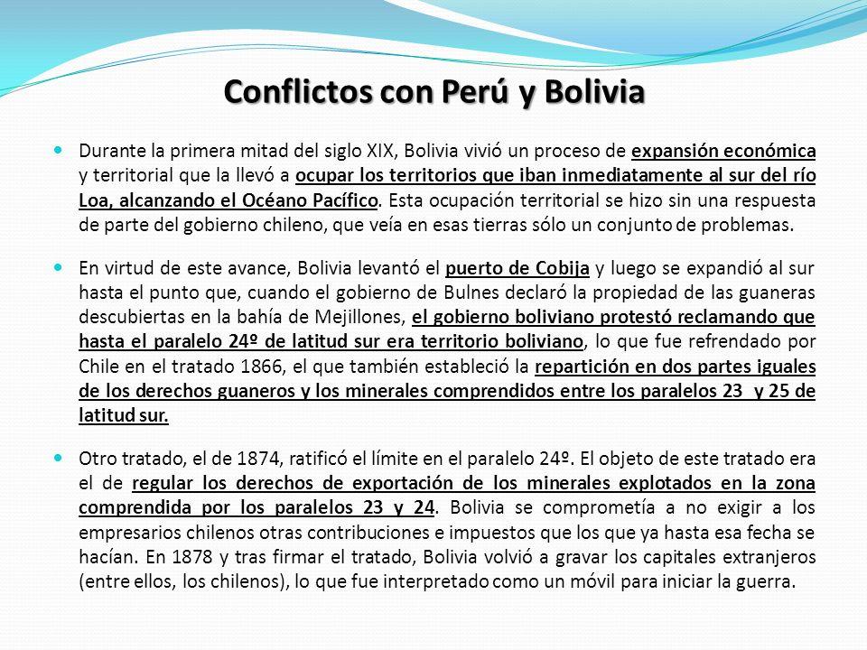 Conflictos con Perú y Bolivia