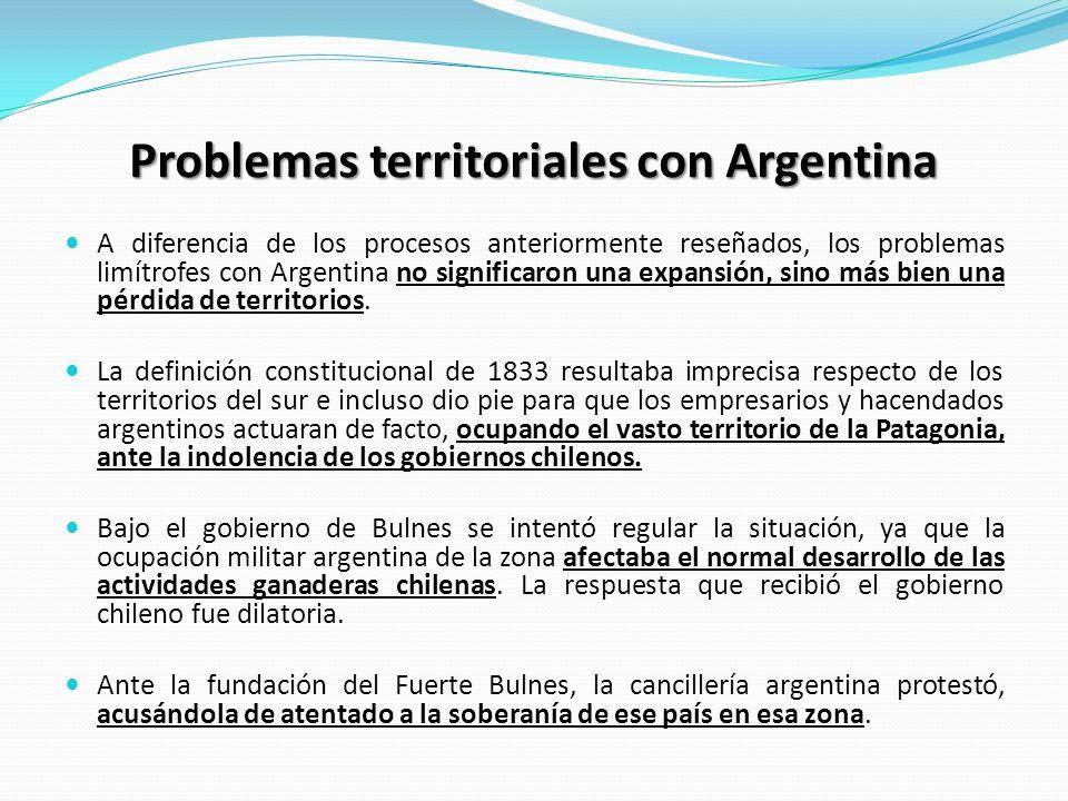Problemas territoriales con Argentina