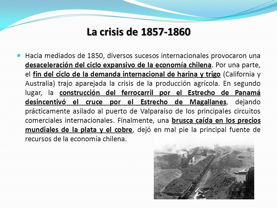 La crisis de 1857-1860