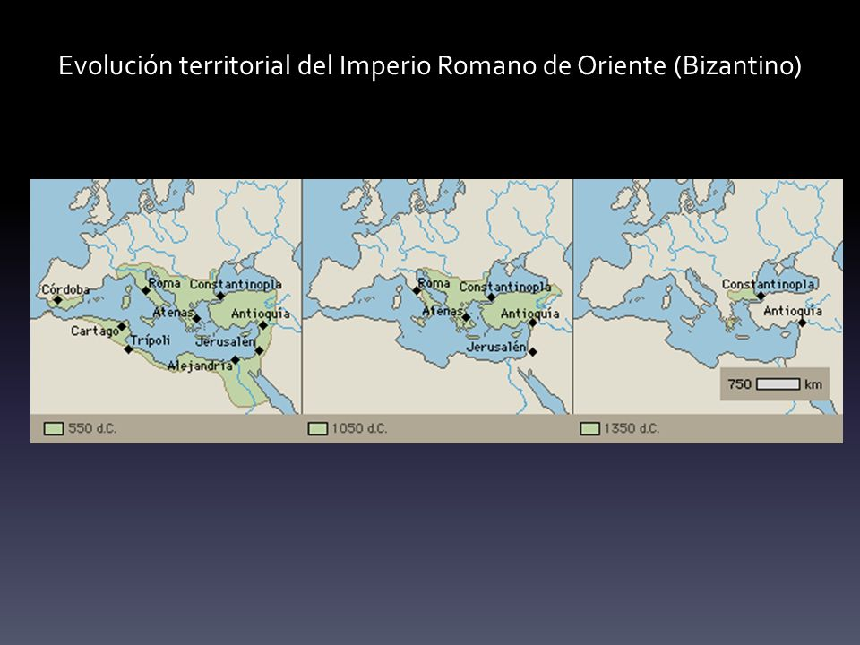 Evolución territorial del Imperio Romano de Oriente (Bizantino)