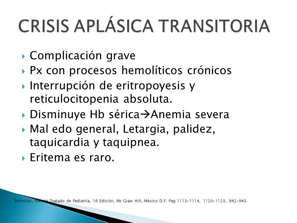 CRISIS APLÁSICA TRANSITORIA