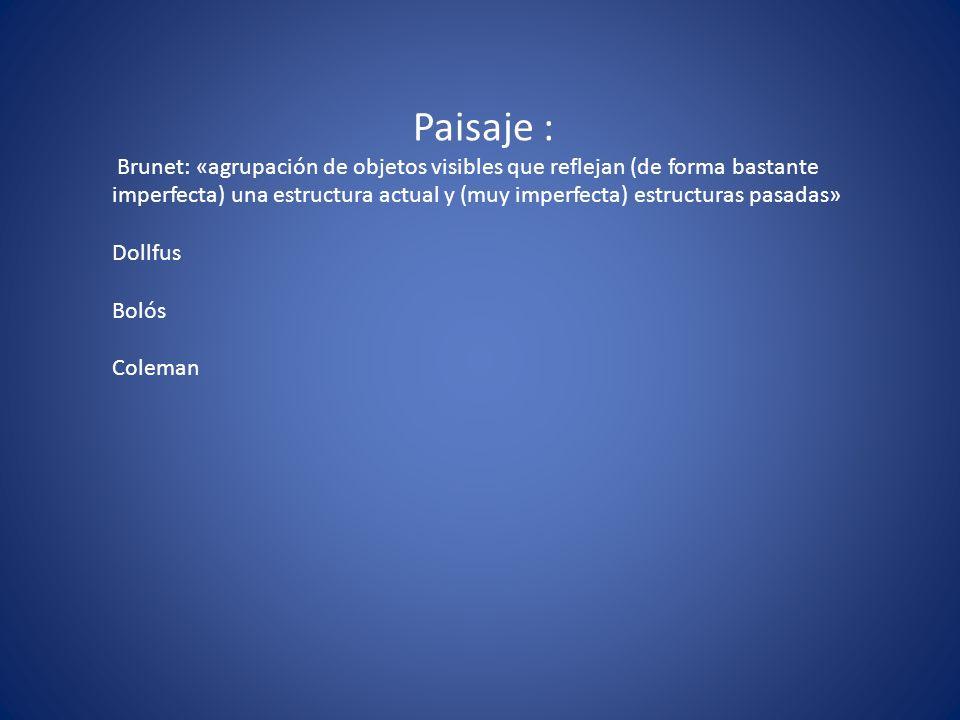 Paisaje :