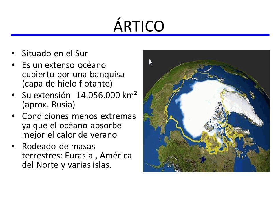 ÁRTICO Situado en el Sur